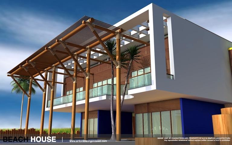 3D [CG WORK] BEACH HOUSECOVER