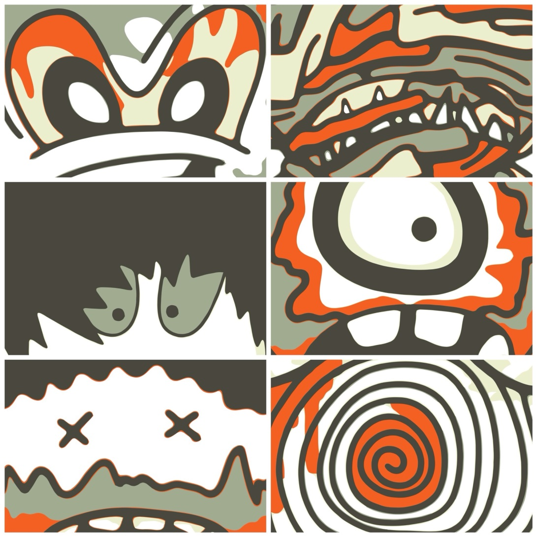 4 TONES POP ILLUSTRATIONS - STILL 01