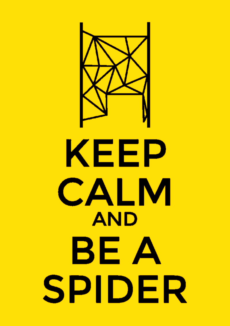 KEEP CALM SPIDER PARODY
