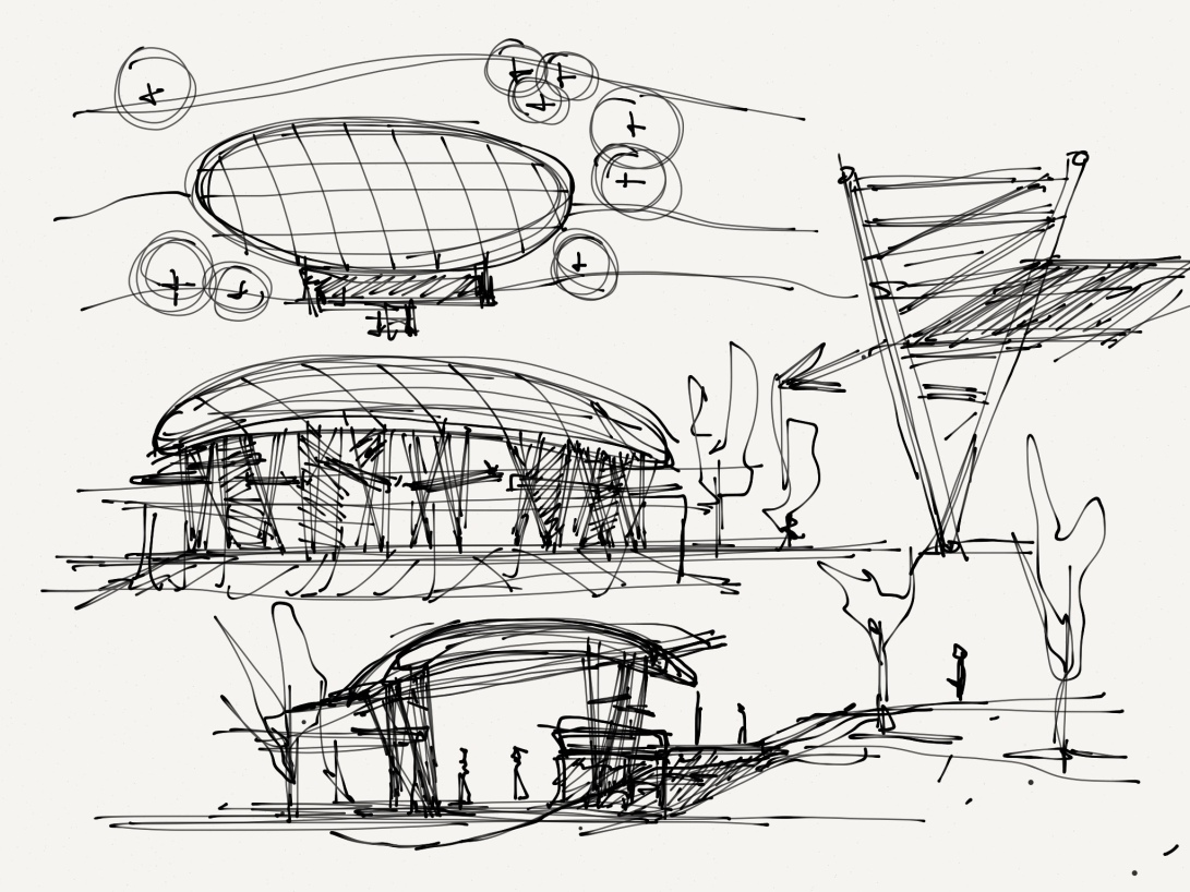 alg - antonio leon gonzalez - architecture concept sketches - 004