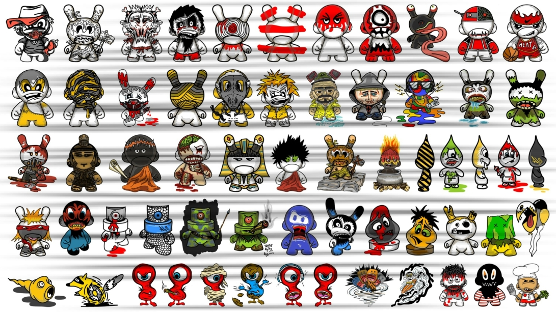 ALG 2D CHARACTERS ILLUSTRATION TABLE [ALG + KIDROBOT]