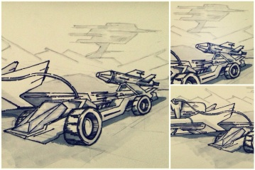 ALG Concept Sketches - The SpaceShips A_00 Series : Visual 2D and 3D Development of a Comic Space Battle Mission by ALG [Teaser Shots] img_011